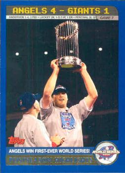 2003 Topps #721 2002 World Series Card Front