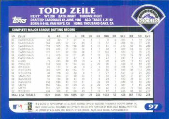 2003 Topps #97 Todd Zeile Back