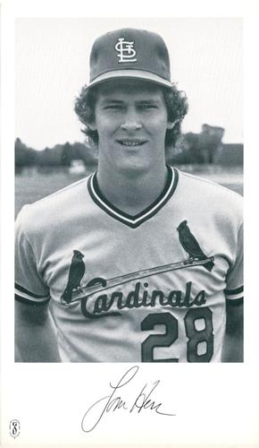 1982 St Louis Cardinals Photocards NNO Tom Herr Front