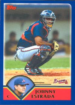2003 Topps Traded & Rookies #T25 Johnny Estrada Front