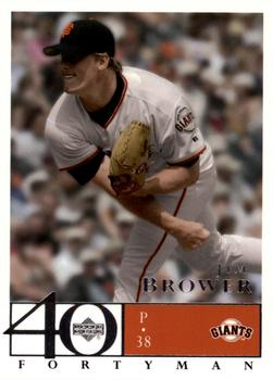 2003 Upper Deck 40-Man #571 Jim Brower Front