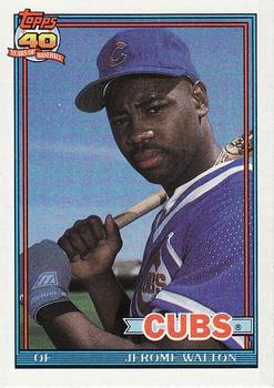 1991 Topps #135 Jerome Walton Front