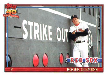 1991 Topps #530 Roger Clemens Front