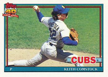 1991 Topps #337 Keith Comstock Front