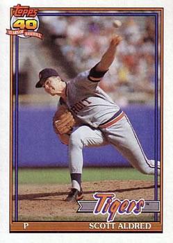1991 Topps #658 Scott Aldred Front