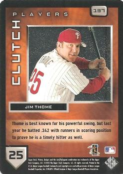 2003 Upper Deck Victory #137 Jim Thome Back