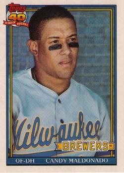 1991 Topps Traded #74T Candy Maldonado Front