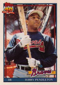 1991 Topps Traded #90T Terry Pendleton Front