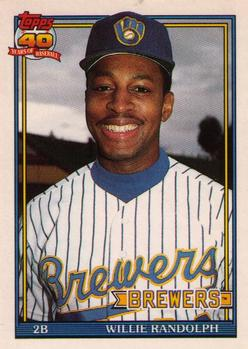 1991 Topps Traded #95T Willie Randolph Front