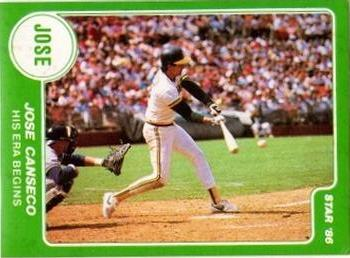 1986 Star Jose Canseco - Stickers #NNO Jose Canseco Front