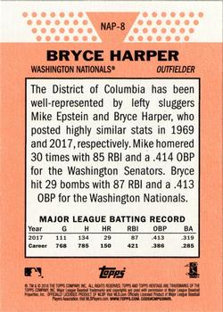 2018 Topps Heritage - New Age Performers #NAP-8 Bryce Harper Back