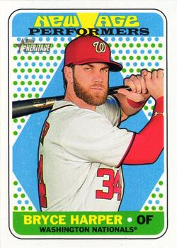 2018 Topps Heritage - New Age Performers #NAP-8 Bryce Harper Front
