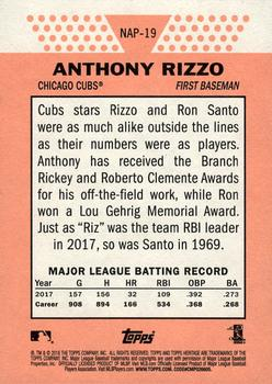 2018 Topps Heritage - New Age Performers #NAP-19 Anthony Rizzo Back