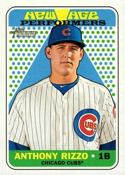 2018 Topps Heritage - New Age Performers #NAP-19 Anthony Rizzo Front