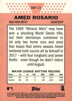2018 Topps Heritage - New Age Performers #NAP-23 Amed Rosario Back