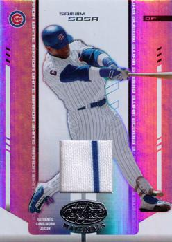 2004 Leaf Certified Materials - Mirror Fabric White #170 Sammy Sosa Front