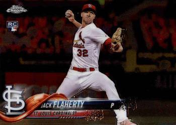 2018 Topps Chrome Sepia Refractor #4 Jack Flaherty St Louis Cardinals Card Honkbal Verzamelkaarten, ruilkaarten