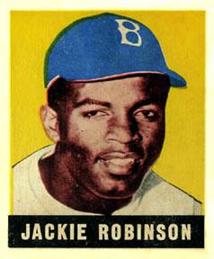 1948-49 Leaf #79 Jackie Robinson Front