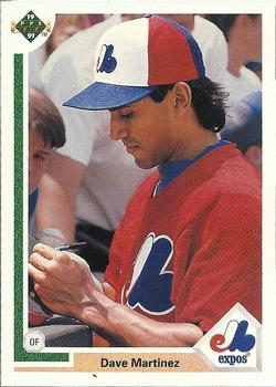 1991 Upper Deck #186 Dave Martinez Front