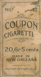 1910-19 Coupon Cigarettes (T213) #NNO Bill Sweeney Back