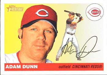 2004 Topps Heritage #30b Adam Dunn Front