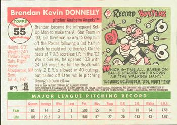 2004 Topps Heritage #55 Brendan Donnelly Back