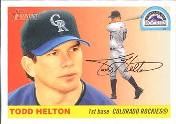 2004 Topps Heritage #70a Todd Helton Front
