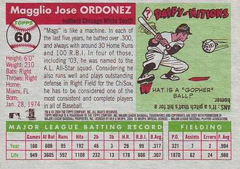 2004 Topps Heritage #60a Magglio Ordonez Back
