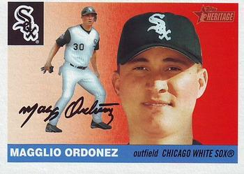 2004 Topps Heritage #60a Magglio Ordonez Front
