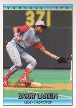 1992 Donruss #185 Barry Larkin Front