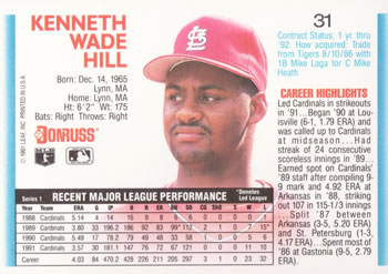 Ken Hill Gallery The Trading Card Database