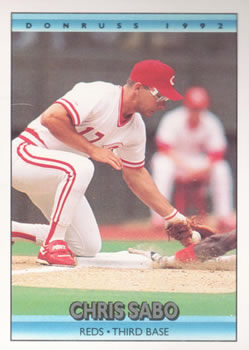 1992 Donruss #50 Chris Sabo Front