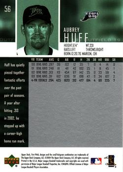 2004 Upper Deck First Pitch #56 Aubrey Huff Back
