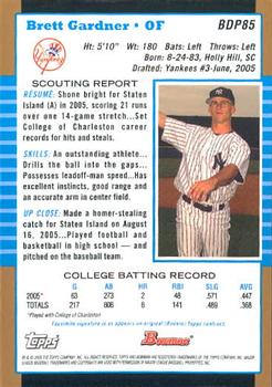 Brett Gardner Gallery | The Trading Card Database