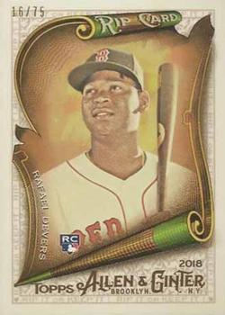 2018 Topps Allen & Ginter - Rip Cards #RIP-89 Rafael Devers Front