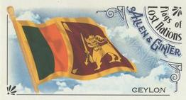 2018 Topps Allen & Ginter - Mini Flags of Lost Nations #FLN-6 Ceylon Front