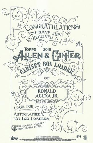2018 Topps Allen & Ginter - Box Loaders #BL-8 Ronald Acuna Jr. Back
