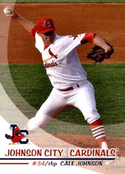 2010 Grandstand Johnson City Cardinals #17 Cale Johnson Front
