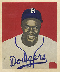 1949 Bowman #50 Jackie Robinson Front