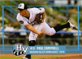 2018 Grandstand Hudson Valley Renegades #NNO Paul Campbell Front