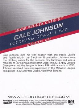 2018 Choice Peoria Chiefs #29 Cale Johnson Back