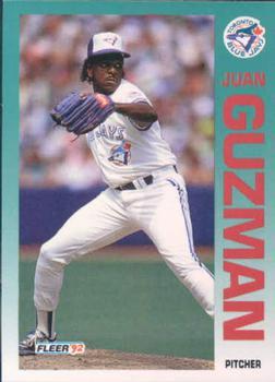1992 Fleer #330 Juan Guzman Front