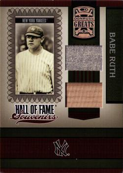 2005 Donruss Greats - Hall of Fame Souvenirs Material Combo #HOFS-9 Babe Ruth Front