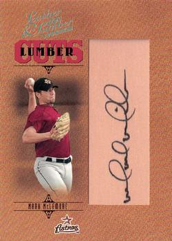 2005 Donruss Leather & Lumber - Signatures Lumber Cuts #163 Mark McLemore Front
