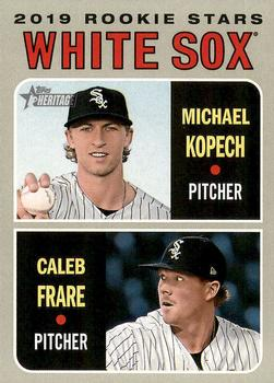 2019 Topps Heritage #7 Michael Kopech / Caleb Frare Front