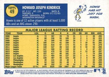2019 Topps Heritage #49 Howie Kendrick Back