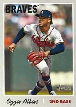 2019 Topps Heritage #436 Ozzie Albies Front