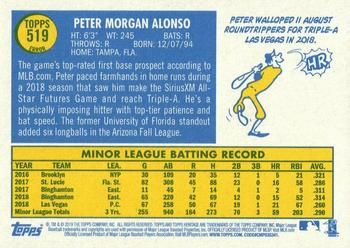 2019 Topps Heritage #519 Pete Alonso Back