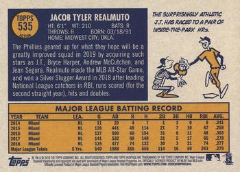 2019 Topps Heritage #535 J.T. Realmuto Back