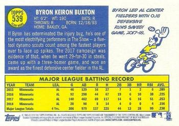 2019 Topps Heritage #539 Byron Buxton Back